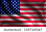 waving united states flag  flag ... | Shutterstock .eps vector #1347169367
