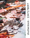 fresh fish at a fishmonger | Shutterstock . vector #1347178097