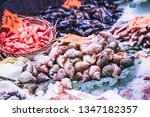 seafood shellfish at a... | Shutterstock . vector #1347182357