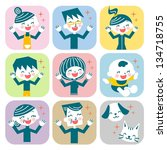 family expression | Shutterstock . vector #134718755