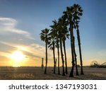 sunset over pacific ocean from... | Shutterstock . vector #1347193031