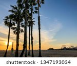 sunset over pacific ocean from... | Shutterstock . vector #1347193034