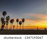 sunset over pacific ocean from... | Shutterstock . vector #1347193067