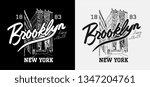 brooklyn slogan with city... | Shutterstock .eps vector #1347204761