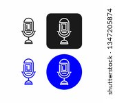 podcast radio icon illustration.... | Shutterstock .eps vector #1347205874