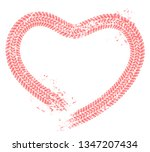 tire tracks heart. motorist... | Shutterstock .eps vector #1347207434