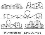 roller coaster silhouette.... | Shutterstock .eps vector #1347207491