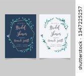 bridal shower card | Shutterstock .eps vector #1347225257