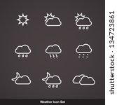 vector weather icon set | Shutterstock .eps vector #134723861