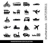 transportation icon set  modern ... | Shutterstock .eps vector #1347255011