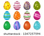 colorful collection of easter... | Shutterstock .eps vector #1347257594