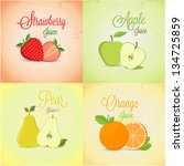 fruits labels design set | Shutterstock .eps vector #134725859