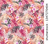 floral pattern  seamless floral ... | Shutterstock . vector #1347270404