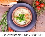 soup with meat and vegetables   Shutterstock . vector #1347280184
