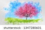 Decorative Watercolor Sketch O...