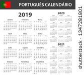 portuguese calendar for 2019 ...   Shutterstock . vector #1347281801