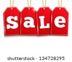 red sale tags  vector eps10... | Shutterstock .eps vector #134728295