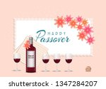 passover jewish spring holiday... | Shutterstock .eps vector #1347284207