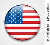 flag of the usa. round glossy... | Shutterstock . vector #1347285887