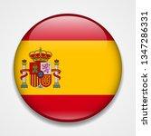 flag of spain. round glossy... | Shutterstock . vector #1347286331