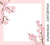 abstract floral sakura flower... | Shutterstock .eps vector #1347287414