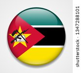 flag of mozambique. round... | Shutterstock . vector #1347288101