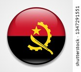 flag of angola. round glossy... | Shutterstock . vector #1347291551