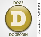 dogecoin cryptocurrency... | Shutterstock . vector #1347292154