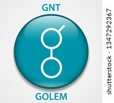 golem coin cryptocurrency... | Shutterstock . vector #1347292367