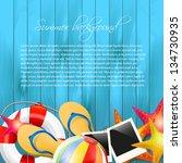 summer background with copyspace | Shutterstock .eps vector #134730935