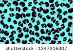 leopard print. animal skin... | Shutterstock .eps vector #1347316307