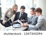 businessman discussing with the ... | Shutterstock . vector #1347343394