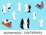 isometirc saudi businessmens.... | Shutterstock .eps vector #1347355451