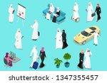isometirc saudi businessmens.... | Shutterstock .eps vector #1347355457