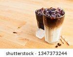 iced coffee and latte macchiato ... | Shutterstock . vector #1347373244