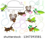 a concert with songs and... | Shutterstock .eps vector #1347393581