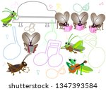 a concert with songs and... | Shutterstock .eps vector #1347393584