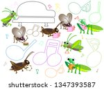 a concert with songs and... | Shutterstock .eps vector #1347393587