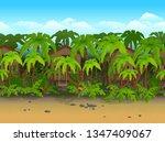 seamless cartoon beach...   Shutterstock .eps vector #1347409067