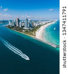 Aerial View Of Miami Beach Wit...
