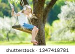 cute little girl having fun on... | Shutterstock . vector #1347418781