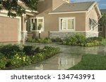 home exterior of house with... | Shutterstock . vector #134743991
