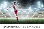 soccer action. professional... | Shutterstock . vector #1347446411