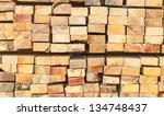 stack of wood logs | Shutterstock . vector #134748437