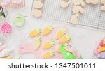 step by step. flat lay.... | Shutterstock . vector #1347501011