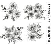 flower print. elegance seamless ... | Shutterstock .eps vector #1347502121