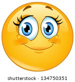 cute eyelashes emoticon | Shutterstock .eps vector #134750351