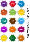 set of various communication... | Shutterstock .eps vector #134750621
