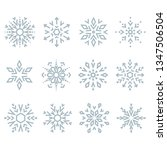 snowflakes icon collection.... | Shutterstock .eps vector #1347506504