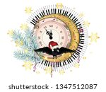 Vintage Style Clock With Crow ...